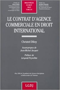 Le contrat d'agence commerciale en droit international
